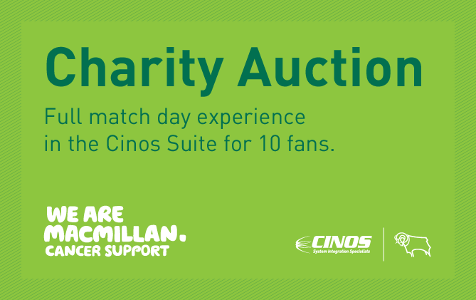 cinos and dcfc auction suite for macmillan cancer support. Black Bedroom Furniture Sets. Home Design Ideas