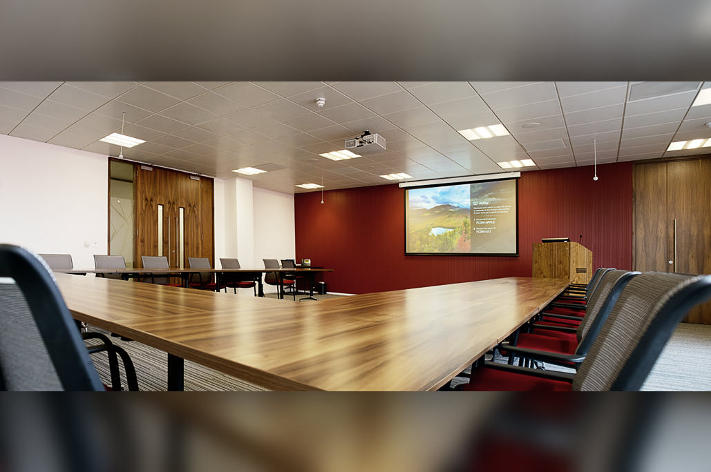 Divisible Meeting Room with video conferencing and projection