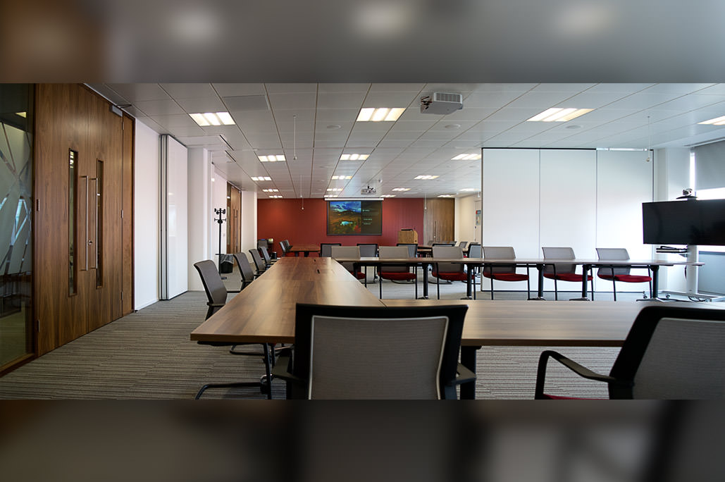 Divisible meeting rooms shown during opening