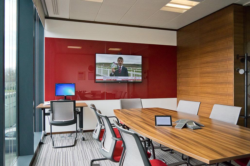 Meeting room with AV equipment