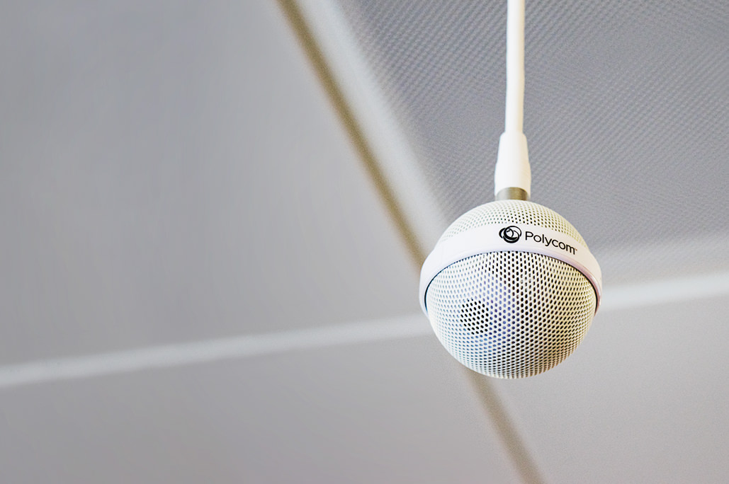 Polycom ceiling microphone