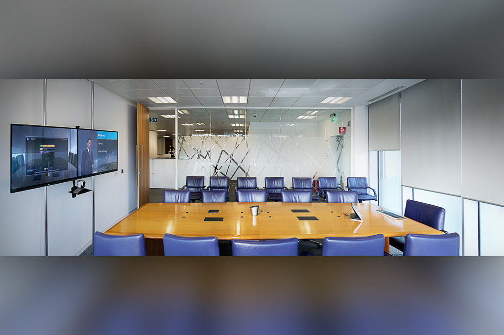 NEC E Series Displays in Management Boardroom
