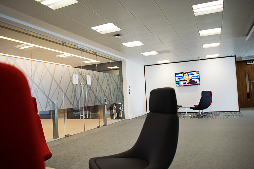 Reception area with NEC screen showing TripleTV