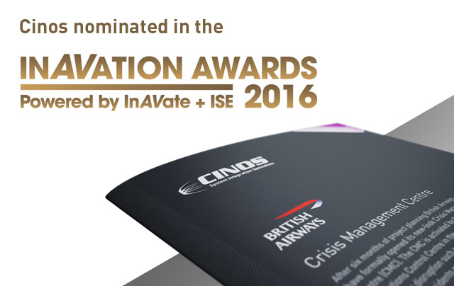 Cinos Nominated in InAVation Awards 2016