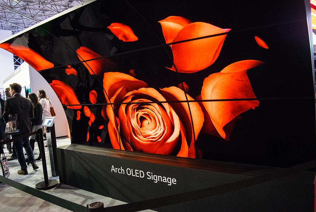 LG Arch OLED Signage
