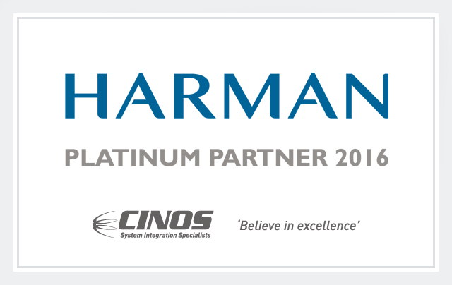 Cinos are a HARMAN Platinum Partner