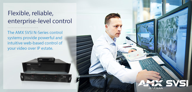 AMX SVSI Video over IP Controllers