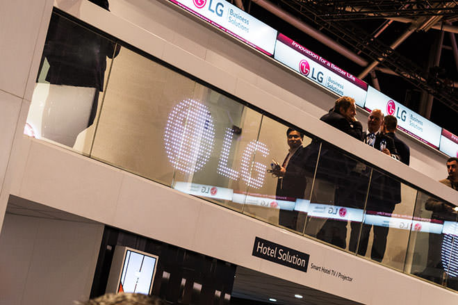 LG LED Film for Glass - ISE 2017