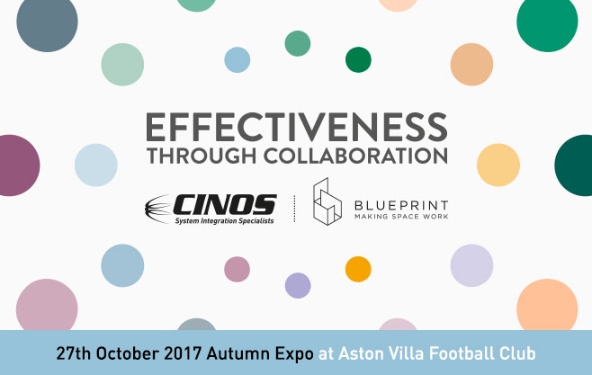 Cinos and Blueprint Interiors exhibit at the GBCC Autumn Expo 2017