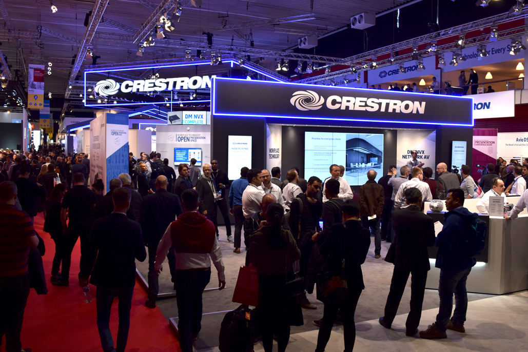 The Crestron Stand at ISE 2018