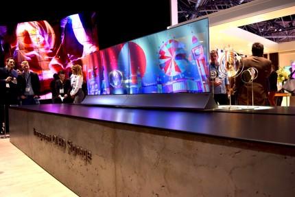 LG Transparent OLED Signage