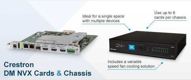 Crestron DM NVX Cards - Product range