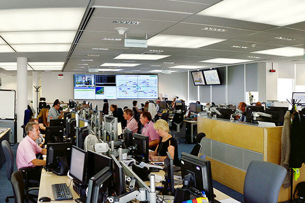 The Network Operations Control Centre (NOCC) with 4x2 video wall
