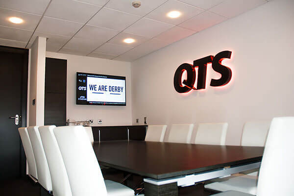 The QTS Box at Derby County Football Club