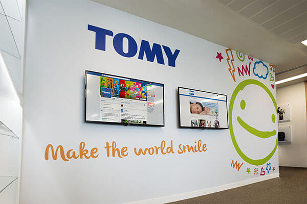 LG 49LX341C Displays in Tomy Reception