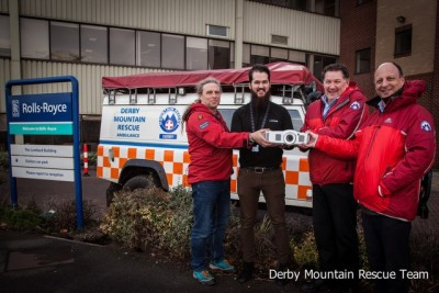 Derby Mountain Rescue Team receive Optoma projector from Cinos