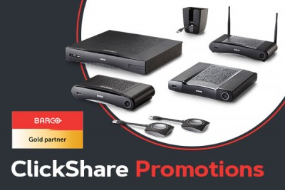 Barco Clickshare Promotions from Cinos