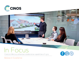 Download our Case Study - Cinos enhance collaboration for rg+p with Crestron Mercury
