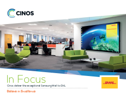 Download our Case Study - Cinos deliver the exceptional Samsung Wall to DHL