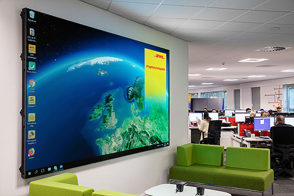 The Samsung Wall at DHL
