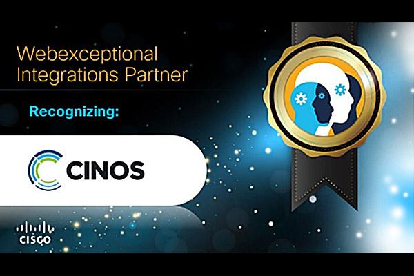 Cinos wins Webexceptional Integrations Partner at Cisco Partner Awards for Refero