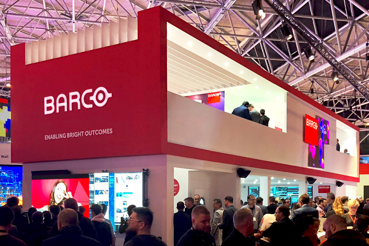 The Barco Stand at ISE 2020