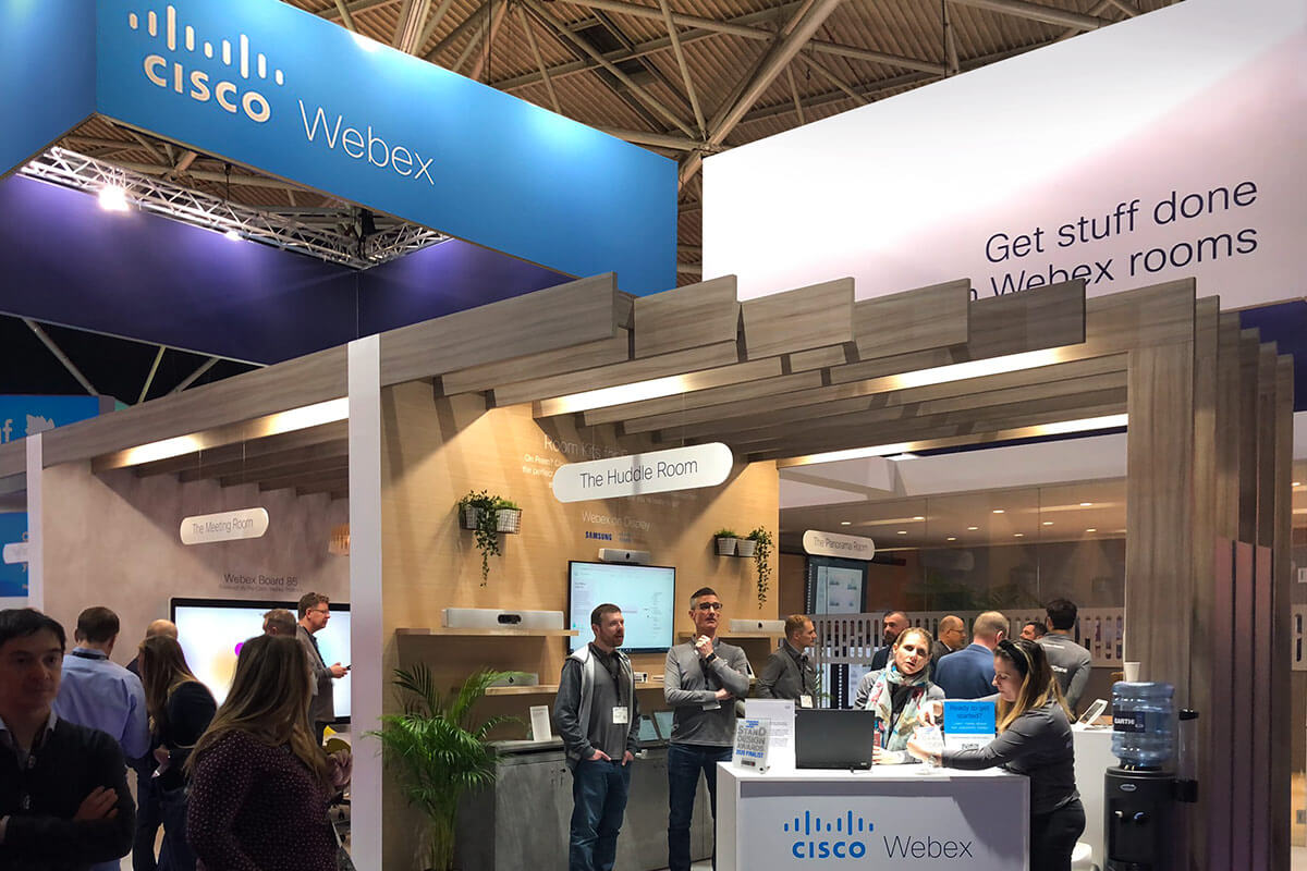 The Cisco stand at ISE 2020