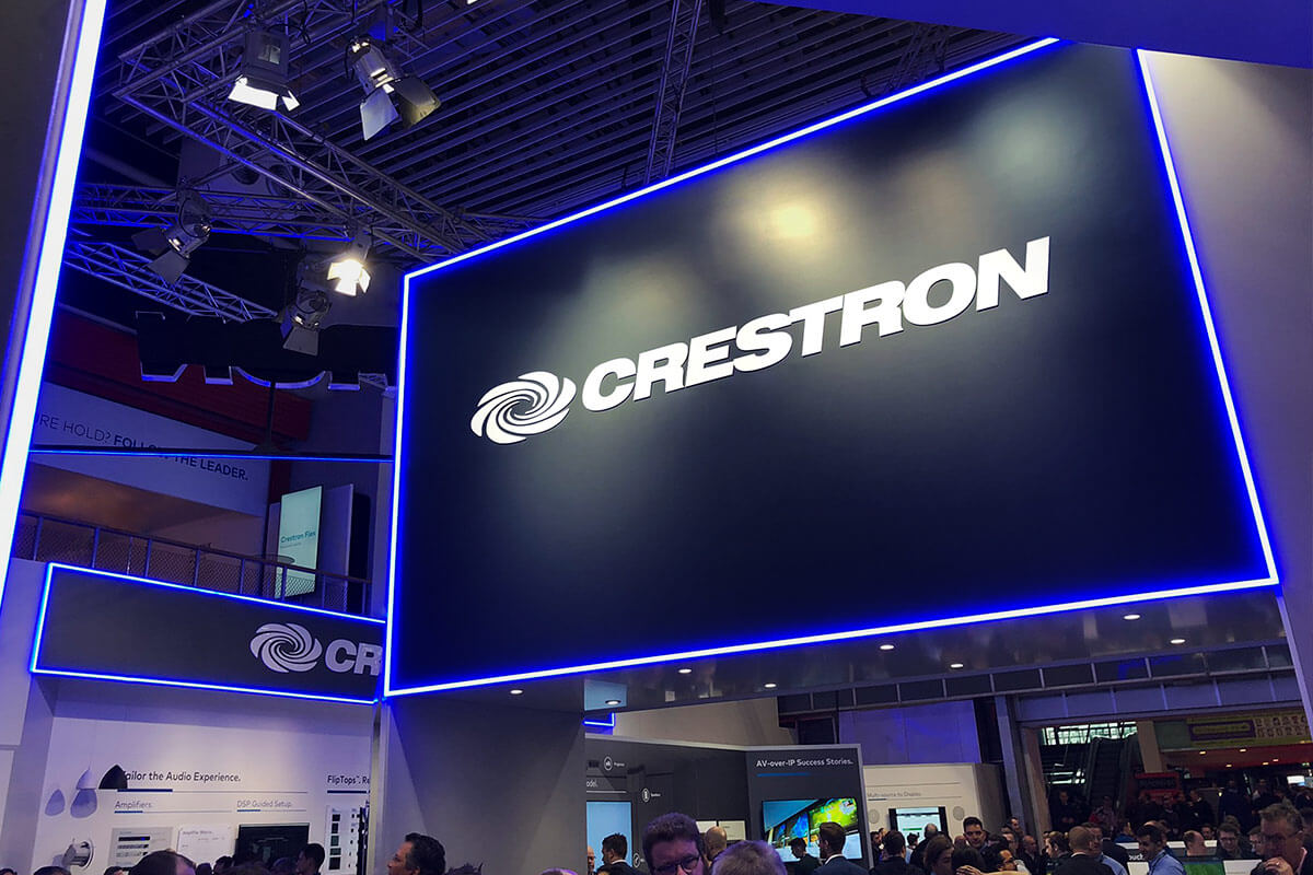 The Crestron Stand at ISE 2020