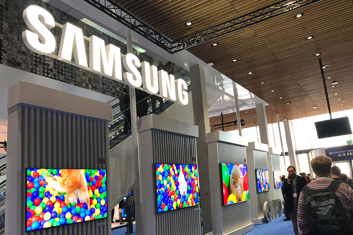 The Samsung Stand at ISE 2020