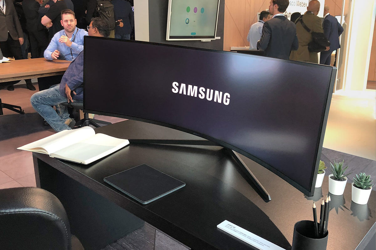 Samsung Curved LED Desktop Display