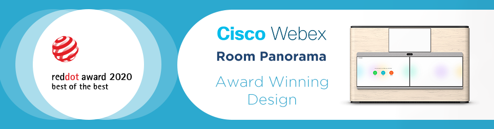 Cisco Webex Room Panorama wins 'best of the best' Red Dot Award 2020